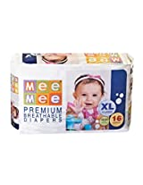 Mee Mee Premium Extra Large Size Diapers (16 Count)