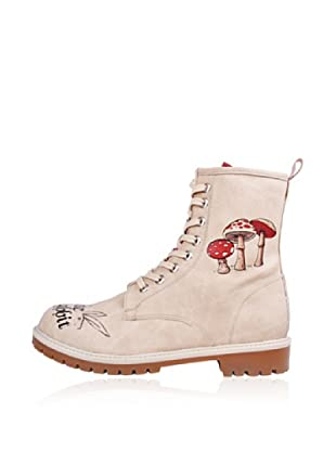 Dogo Botas Follow the white rabbit.. (Crema)