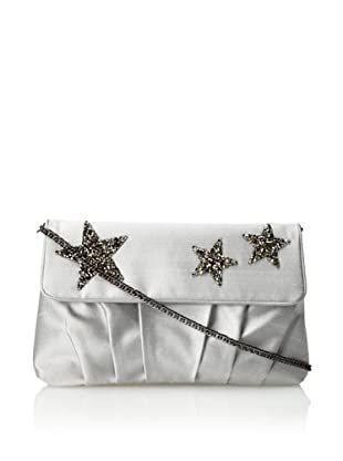 Inge Christopher Women's Santa Ynez Flap Clutch with Cross-Body (Silver)