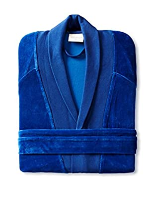 Nine Space Organic Cotton Velour Robe (Royal Blue)