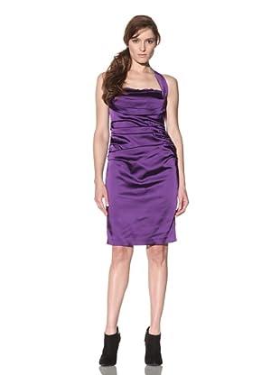 Suzi Chin Women's Satin Halter Dress (Viola)