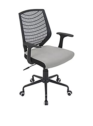 LumiSource Network Office Chair, Black/Silver
