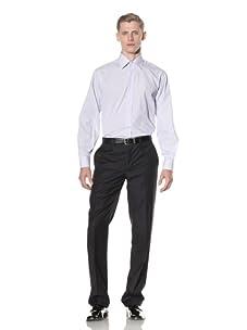 Yves Saint Laurent Men's Plaid Shirt (French Blue)