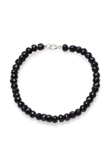 Catherine Angiel 14K White Gold Black Spinel Bracelet