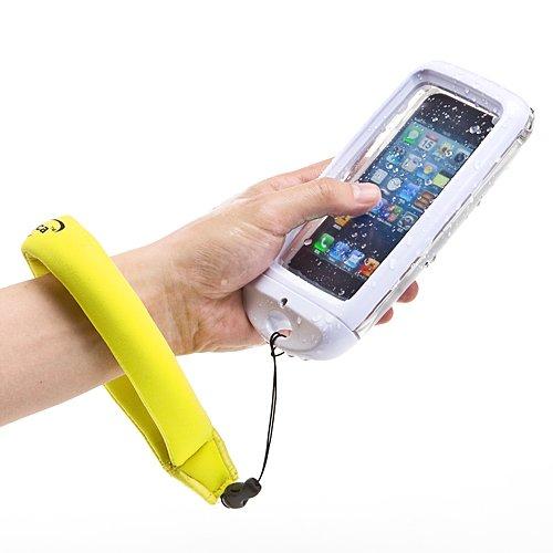 サンワダイレクト iPhone5防水ハードケース iPhone5 ケース 防水ケース ストラップ付 ホワイト 200-PDA110W