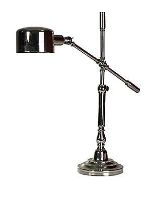 StyleCraft Metal Adjustable Table Lamp, Polished Nickel