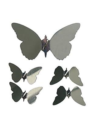LO+DEMODA Wandtatoo-Spiegel Papillon