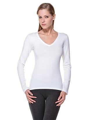 Cotonella Camiseta Cuello V (blanco)