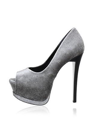 Buffalo London 22063-943 VELVET 131797 - Peep Toes  mujer (Gris)
