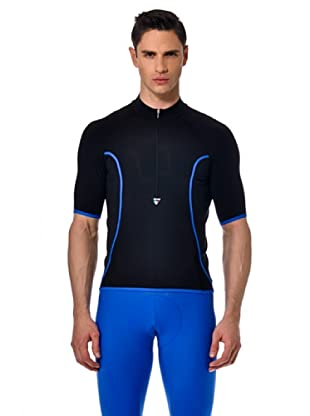 Santini Shirt Zip (schwarz/blau)