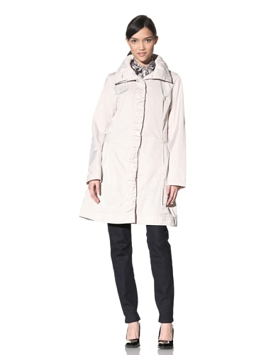Rainforest Women's Ruched Raincoat (Oyster)