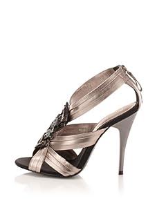 Bourne Women's Drew T-Strap Sandal (Pewter)