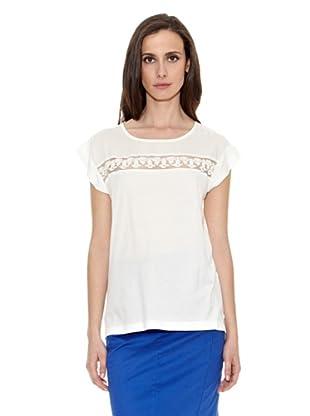 Cortefiel Camiseta Camiset Combinad Puntilla (Crudo)