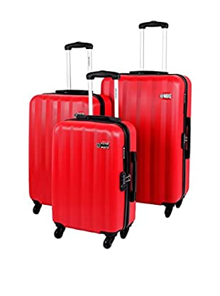 Travel World Set de 3 trolleys rígidos MUC