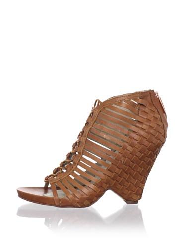 Mea Shadow Women's Velora Wedge Sandal (Tan Veggie Leather)