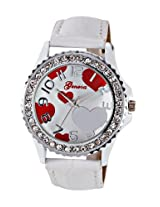 "Geneva Ladies Watch GLâÂ?Â"" 11-H, white, white"