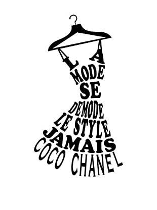 Ambiance Sticker Wandtattoo French Coco Chanel Text La Mode