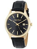 Caravelle by Bulova Dress Analog Champagne Dial Men's Watch - 44B106