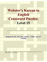 Webster's Korean to English Crossword Puzzles: Level 15