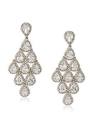 CZ by Kenneth Jay Lane Cascading CZ Pears Dangle Earrings