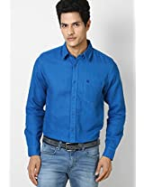 Aqua Blue Casual Linen Shirt