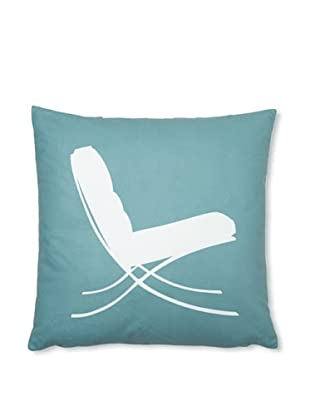Inhabit 1929 Pillow (Cornflower/Chocolate)