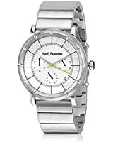 Hp.6060M.1501 Silver/White Chronograph Watch Hush Puppies