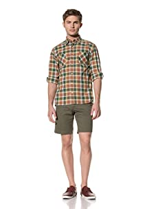 Standard Issue by Hyden Yoo Men's Gyrene Shirt (Sea Green Plaid)