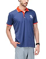 Yepme Men's Blue Polo T-shirt -YPMPOLO0211_S