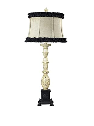 La Place Parisian Table Lamp with Ruffle Shade