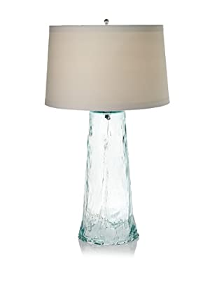 Lamp Works Recycled Glass Waterfall Table Lamp