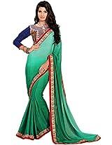 Manvaa green saree -FNST1502
