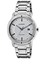 Citizen Eco-Drive Analog Silver Dial Men's Watch AW1080-51A