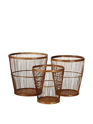 Concept Luxury Behälter für Küchenhelfer 3er Set Bamboo braun