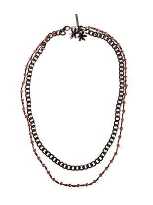 Caramelo Collar Dupla Cadena (Malva Oscuro)