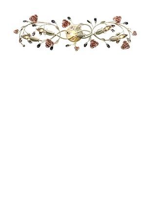 Artistic Lighting Heritage 5-Light Porcelain Roses Vanity, Cream
