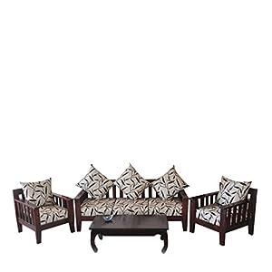 Wood Dekor Luxurious Sofa Set (1 Three Seater+2 Single Seaters)