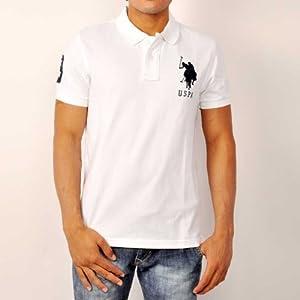 U.S. Polo Assn. Men T Shirts Short Sleeve White Polo