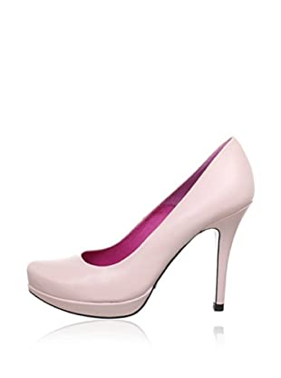 Buffalo London 9669-177 BL MESTIZO 142763 - Zapatos de tacón de cuero  mujer (Rosa)