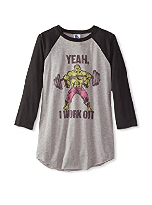 Junk Food Men's Work Out Raglan 3/4 Sleeve T-Shirt