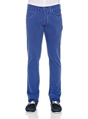 Carrera Jeans Pantalón Gabardina Stretch (Azulón)