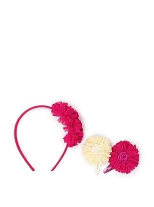Liliella Rose Headband and Rose and Cream Hairclip Set