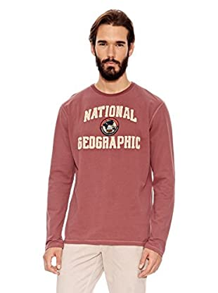 National Geographic Camiseta Manga Larga Paris 283 (Granate Lavado)