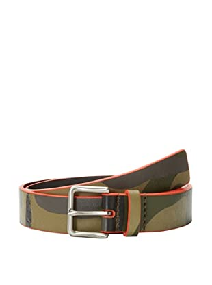 Michael Kors Men's Wire Buckle Belt with Edge Paint (Green)