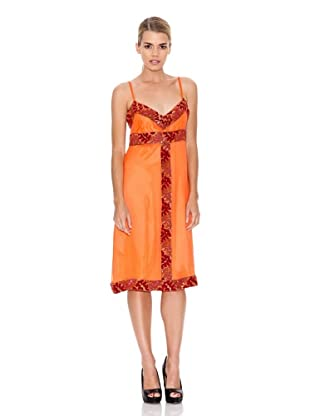 Monoplaza Vestido Pedrería (Naranja)