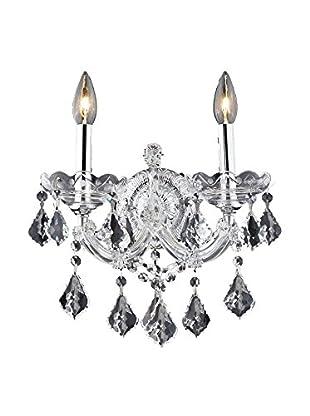 Crystal Lighting Maria Theresa 2-Light Wall Sconce, Chrome