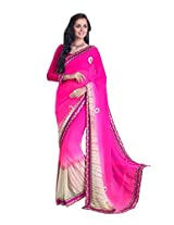 Pikasho Party Wear Cutpatch Saree 8009