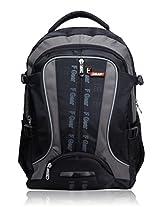 F Gear Chill Black Grey School Bag