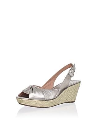 Corso Como Women's Earth Slingback Wedge Sandal (Aluminum)
