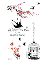 Ggsell Latest King Horse New Design Hot Selling Waterproof The Red Plum Swallow Birdcage Fake Temporary Tattoos